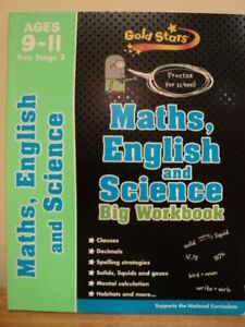 Home education Home school MATHS ENGLISH SCIENCE BIG WORKBOOK Resource AGE 9-11