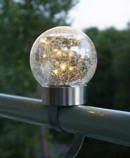 LED Solar Kugel 3in1 10 LEDs warmweiß Gartenstecker Tischlampe Balkonleuchte