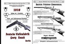 Deutsche Waffenfabrik, Georg Knaak 1910 Gun Catalog