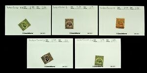 TURKS & CAICOS ISLANDS SAILING SHIP ISSUE SET OF 5v MH+ USED STAMPS