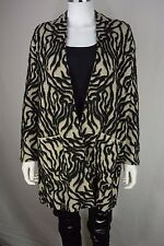 Women's Zara Limited Edition size Medium M Black Soft Knit Coat Jacket NEW NWT