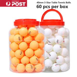 60 x 40mm 3-Star Table Tennis Balls Ping Pong Training Ball Amateur Professional
