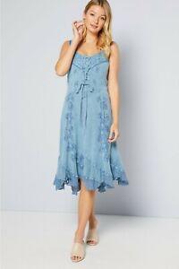 New Joe Browns Effortlessly Elegant Blue Dress By Coline Size XL Free Post