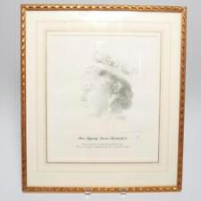 QUEEN ELIZABETH II PORTRAIT SIGNED BY RICHARD SNOW, LIMIT ED 5/100, IN FRAME