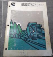 Original Cummins Diesel Engines Operation & Maintenance Shop Manual repair guide