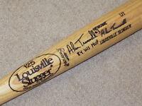 Alan Trammell H&B Game Used Signed Bat Detroit Tigers HOF JSA