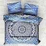 Blue Ombre Mandala Duvet Doona Cover Reversible Indian Quilt Cover With Pillow