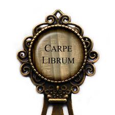 Latin Quote Carpe Librum Seize the Book Library Librarian Bookmark