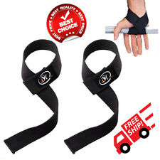 Weight Lifting Straps Power Hand Bar Strap Cotton Webbing Wrist Strengthen Black