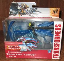 Transformers M4 Dino Sparkers Figures Bumblebee & Strafe NIB Race + Spark