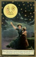 Edwardian couple romance ~ sad face in moon stars night sky ~ 1912 Sand Patch PA