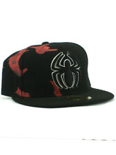 New Era Spider-Man 59fifty Custom Fitted Hat Size 7 3/8 Marvel Comics Black NWT