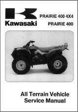 1997-2002 Kawasaki Prairie 400 4X4 ( KVF400 ) ATV Service Manual on a CD