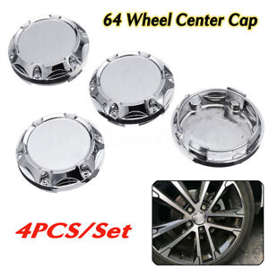 4X 64mm Universal Car Auto Wheel Center Rim Hub Cap Hub Caps Cover Withou