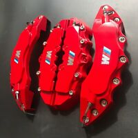 "M Performance Engineering Plastic Red Brake Caliper Covers 11""F9""R/Set For bmw 3"