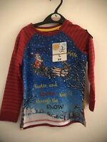 Stick Man Long Sleeve Red Top Aged 2-3 Years