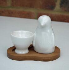 Egg Cup et Penguin Salt Shaker Set Blanc Céramique Animal Ornement Neuf