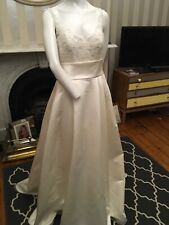 THE WHITE ONE Barcelona Wedding Dress Size Uk 12
