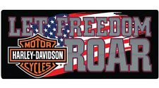 "Harley Davidson Embossed Freedom Roar Harley American Pride Sign 18"" x 8"" NEW"