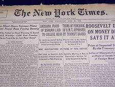 1939 JUNE 28 NEW YORK TIMES - LOUISIANA FRAUD OF $500,000 LAID, COLLEGE - NT 586