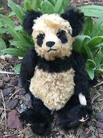 """Vintage Artist Mohair Panda Teddy Bears SUKI Lily VANDEPAEPELIERE 12.5"""""""