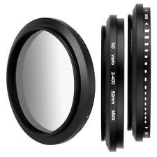 52mm Slim Fader Adjustable Neutral Density ND Lens Filter ND2 ND4 ND8 to ND400 -