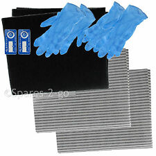 Cooker Hood Filter Kit for RANGEMASTER Extractor Fan Vent Grease Carbon Filters