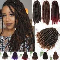 3 Packs Spring Twist Ombre Crochet Braids Kanekalon Synthetic Braiding Hair 300g