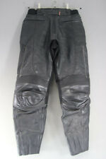 HEIN GERICKE LEATHER BIKER TROUSERS + CE ARMOUR SIZE 12: WAIST 32/INSIDE LEG 31""