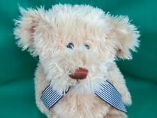 Big Soft Animal Adventure Brown Tan Blonde Striped Pinstripe Bow Plush Stuffed