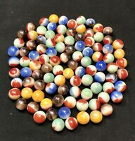 Lot Of 100 Vintage Vitro Agate Marbles~ ALL REDS- Mint!!