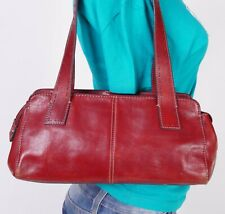 FOSSIL Small Red  Leather Shoulder Hobo Tote Satchel Purse Bag