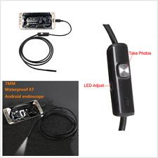 Autos Waterproof Micro 7mm 6 LED USB Endoscope Inspection Borescope Video Camera