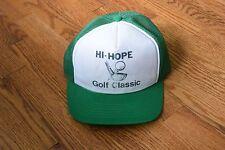 Vintage Hi-Hope Golf Classic Trucker Cap Hat Snapback
