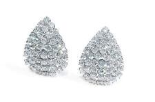 Classic Crystal Rhinestone Diamante Teardrop CLIP ON Stud Earrings Studs Womens
