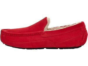 UGG Men's ASCOT Casual Comfort Suede Slipper Loafers SAMBRA RED 1101110