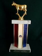 "Vintage 1976 Bicentennial 11"" Cow Trophy - Heavy - Best Fitted Guernsey - Usa"