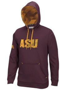 Adidas Men's Arizona State Sun Devils Stealth Logo Hoodie Sweatshirt XXL 2XL