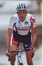 CYCLISME repro PHOTO cycliste FRANCIS DE GREEF équipe OMEGA PHARMA LOTTO 2010