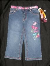 NWT BARBIE Embroidered Denim Capri Jeans 5 Doll Butterfly Pants