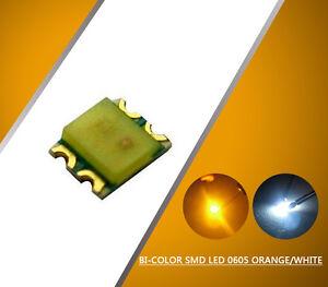 0605WOR 100pcs SMD LED 0605 Bi-Color Orange/White LEDs