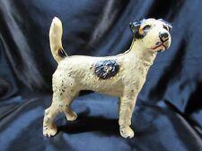 """Antique Hubley Fox Terrier Dog Cast Iron Doorstop 9"""" X 9"""""""