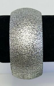 Bangle Bracelet Padded Faux Silver Leather Fabric Jewelry