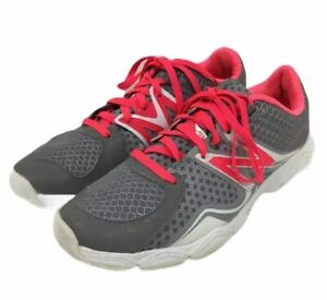 New Balance WX867SL Women's Training Shoes Size 7 gray/ Coral Pink Dual Comfort