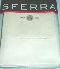 Sferra GIOTTO King Pillow Sham in Ivory 590 TC Egyptian Cotton Sateen New