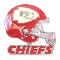 NFL Football Kansas City Chiefs Silver Helmet Pin (S)