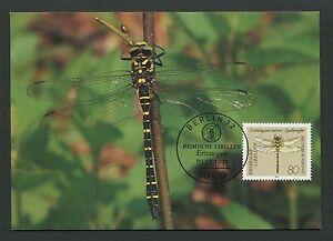 GERMANY MK 1991 DRAGONFLIES LIBELLULES LIBELLEN CARTE MAXIMUM CARD MC CM /m74