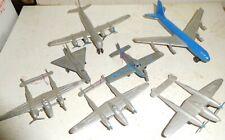 7 Tootsietoy 1930s-1940s Airplanes Pan American Boeing P38 crusaders