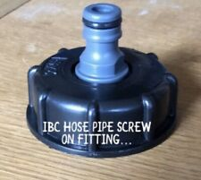 Ibc Reducer Tap Hose Cap Water Standard Fit Stillage Tank Outlet Hoze 1000 Litre