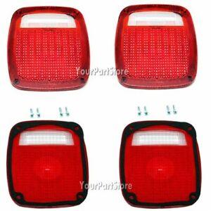 77-87 CHEVY GMC PICKUP TRUCK STEPSIDE Step Side REAR TAIL LIGHT LAMP Lens LENSES